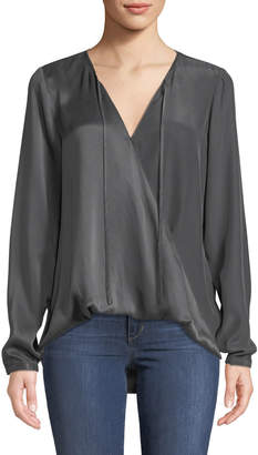 Go Silk Go Flip Side Twisted Charmeuse Blouse
