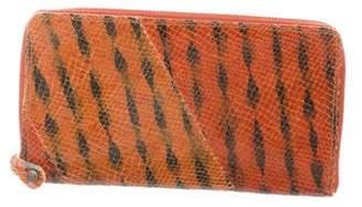 Maison Margiela Printed Snakeskin Zip Wallet