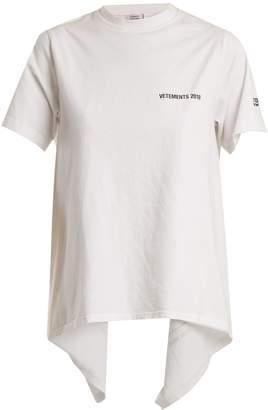 Vetements Open-back crew-neck T-shirt