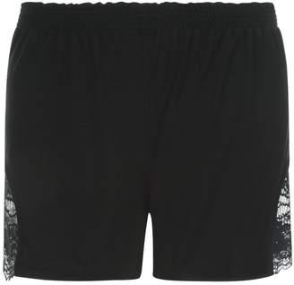 La Perla Lapis Lace Black Modal Pajama Shorts With Leavers Lace Detail