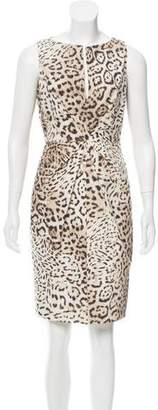 Giambattista Valli Leopard Print Sheath Dress