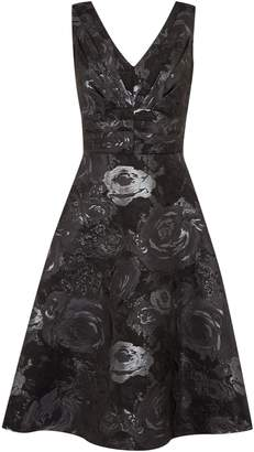 Untold Jacquard fit and flare dress