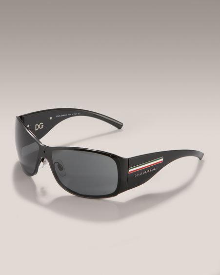 Dolce & Gabbana Plastic Sunglasses, Black
