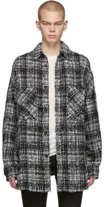 Faith Connexion Black and Grey Tweed Shirt