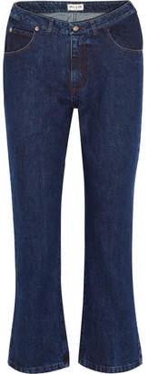 Paul & Joe Cropped High-rise Flared Jeans - Indigo