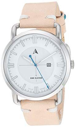 Eleven Paris One Women's SW1 Solar Quartz Stainless Steel and Leather Casual Watch