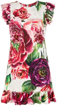 Dolce & Gabbana floral print shift dress