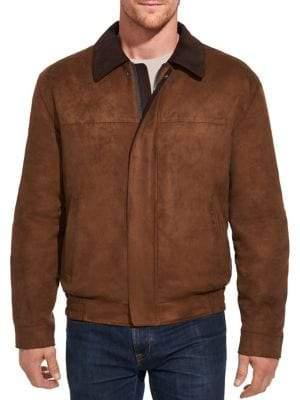 Weatherproof Faux Suede Blouson Jacket