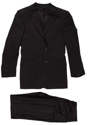 Burberry Striped Wool Suit