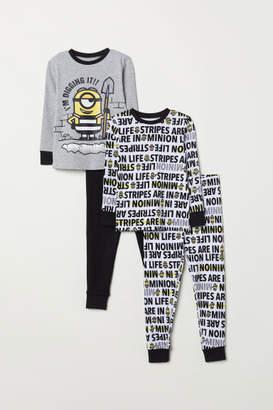 H&M 2-pack Jersey Pajamas - Gray