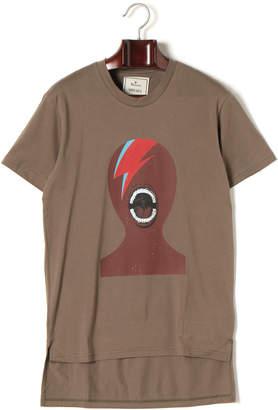 Miharayasuhiro フェイスプリント 半袖Tシャツ カーキ 46