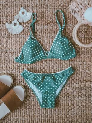 Goodnight Macaroon 'Danelle' Polka Dot Lace Bikini (2 Colors)