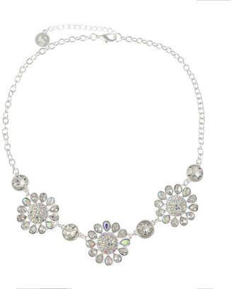 Liz Claiborne Womens White Flower Collar Necklace