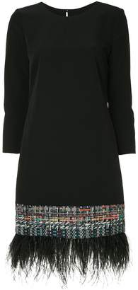 Milly woven detail dress
