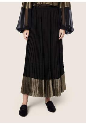 Derek Lam Pleated Skirt With Lame Stripe