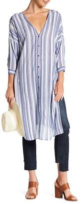En Creme Long Striped Tunic $38 thestylecure.com
