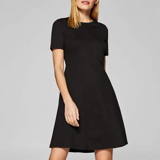 Esprit Flared Short-Sleeved Dress