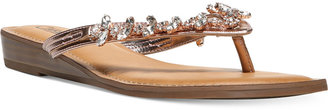 Carlos by Carlos Santana Tereza Jeweled Sandals Women's Shoes $69 thestylecure.com
