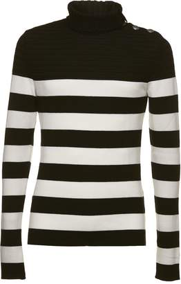 Balmain Embellished Turtle Neck Sweater