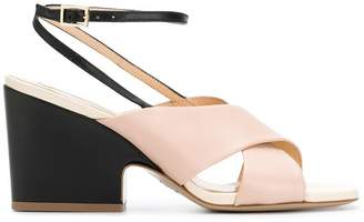 Fabio Rusconi black and pink sandals