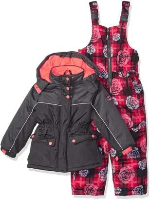 Pink Platinum Little Girl's Printed Super Snowsuit Outerwear