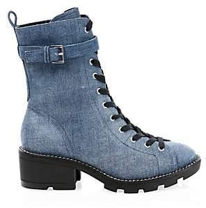 KENDALL + KYLIE Women's Denim Combat Boots