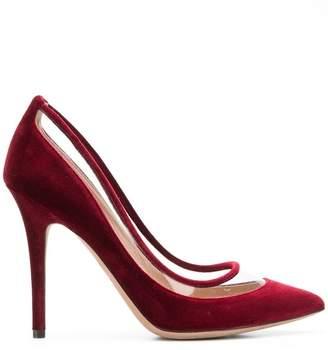 Valentino Glassglow 75 velvet pumps