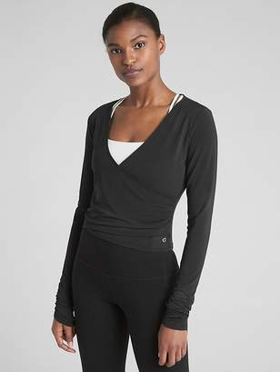 Gap GapFit Breathe Long Sleeve Wrap Top