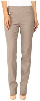 Lisette L Montreal Solid Magical Lycra True Straight Women's Casual Pants
