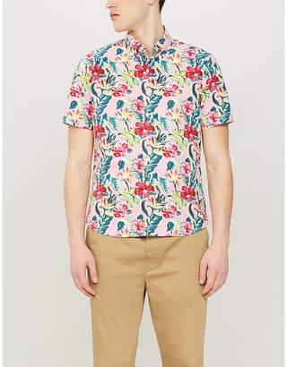 Polo Ralph Lauren Floral-print cotton-twill short-sleeved shirt