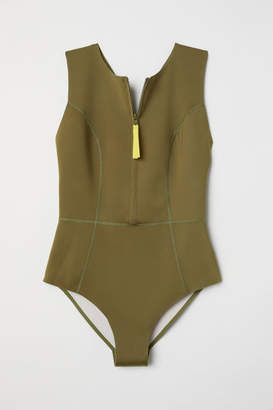 H&M Scuba-look Swimsuit - Green