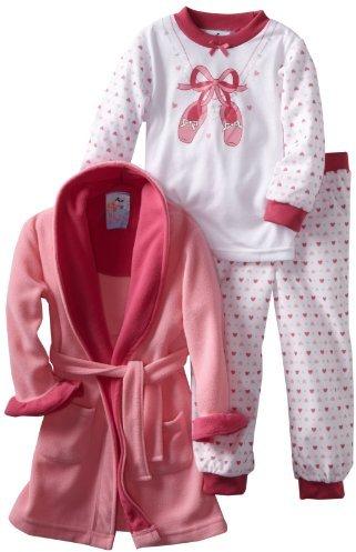Baby Bunz Girls 2-6X Ballet 3 Piece Pajama Set