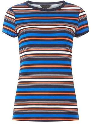Dorothy Perkins Womens Multi-Coloured Coral Stripe T-Shirt