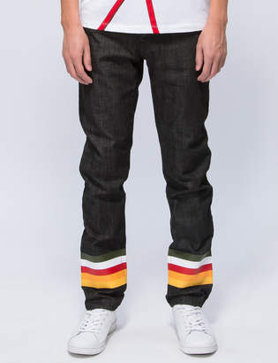Iceberg Multi Color Stripe Jeans
