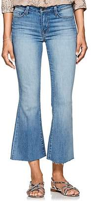 L'Agence Women's Sophia Crop Flared Jeans - Blue