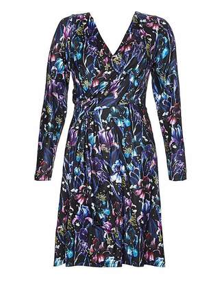 Yumi Curves Floral Jersey Dress