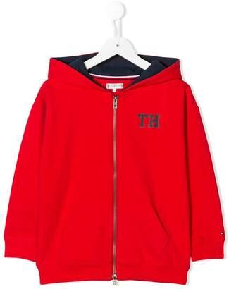 Tommy Hilfiger Junior zip front logo hoodie