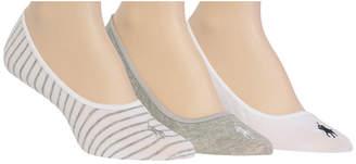 Polo Ralph Lauren (ポロ ラルフ ローレン) - Polo Ralph Lauren Women's 3-Pk. Solid & Striped Liner Socks