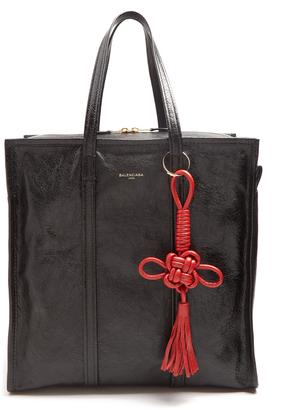 BALENCIAGA Bazar medium grained-leather tote $1,645 thestylecure.com