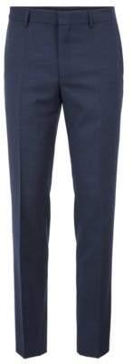 BOSS Hugo Slim-fit pants in patterned virgin wool 30R Dark Blue