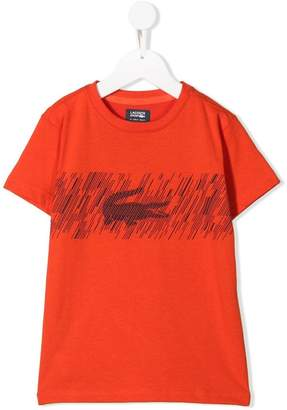 Lacoste Kids graphic logo print T-shirt