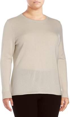 Lafayette 148 New York Women's Melan Cashmere Sweater - Ecru Melange, Size 1x (14-16)
