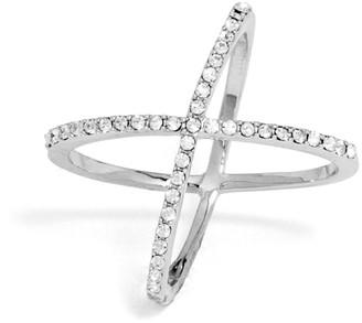 Crystal Mason Ring-Silver