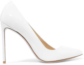 Francesco Russo Patent-leather Pumps - White