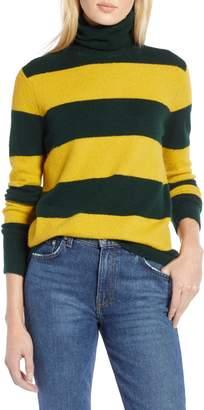 Halogen x Atlantic-Pacific Stripe Turtleneck Sweater