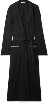 Skin - Odiane Organic Pima Cotton-jersey Robe - Black