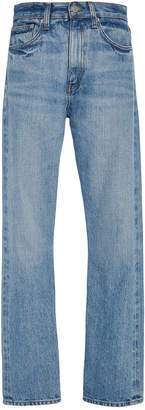 Brock Collection Wright High-Rise Straight-Leg Jeans