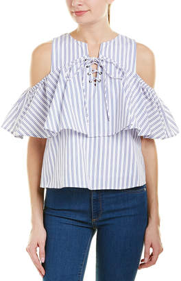 J.o.a. Lace-Up Top