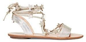 Loeffler Randall Women's Starla Leather Ankle Gladiator Sandals