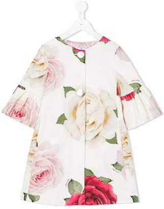 MonnaLisa floral-print collarless coat